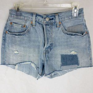 Levi's 501 button fly high rise jean short W26